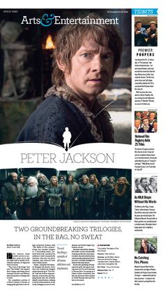 I'm not only a pinner. I'm also a contributor! Here's my ( latest Hobbit lead for Epoch Times. Newspaper Design Layout, Layout Design, Magazine Design Inspiration, Layout Inspiration, Pub Design, News Design, Example Of Magazine, Lanyard Designs, Movie Magazine