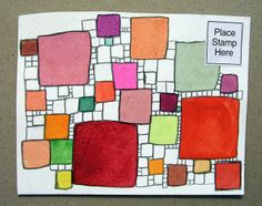 Pattern on mail art, but would also be wonderful in an art journal!