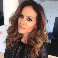 Lesley-Ann Brandt from the hit TV series Lucifer. Beautiful make-up and hair.