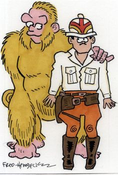 Fred-Hembeck-Color-Sketch-Card-Congo-Bill-and-Congorilla-DC-1-1