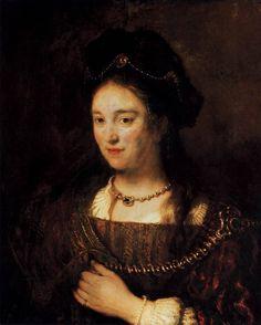 Saskia, the Artist's Wife, Rembrandt Van Rijn