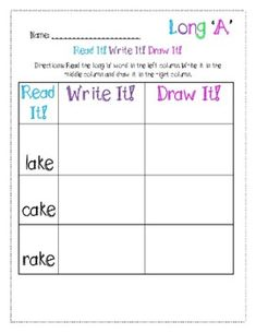 This product is great for teaching phonics to young emerging learners! Students practice reading the short vowel words in the left column, write it in the middle column, and draw a picture of the word in the right column. Vowel Practice, Sight Word Practice, Sight Word Games, Nonsense Words, Cvc Words, Vowel Activities, Short Vowel Sounds, World Teachers, Teaching Phonics