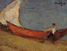 Fisherman boat at sea - Nicolae Tonitza Watercolor, Artist, Images, Painting, Matisse, Artworks, Pocket, Inspired, Search