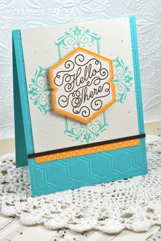 Hello There Card by Dawn McVey for Papertrey Ink (July 2013)