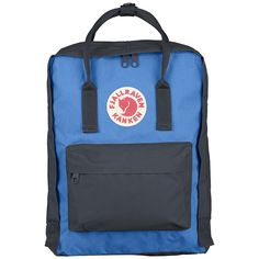 Fjällräven Graphite & Blue Kanken Rucksack: Since it was first created in 1978, Kånken has become Fjällräven's most beloved product, hands down. This classic backpack's USP is a spacious main compartment, opened almost the entire length of the bag with a zip. It features two side pockets, zipped front pocket, PE foam seat cushion to prevent the contents digging against your back, and reflective logo to the front.Made from an extremely hard-wearing, lightweight Vinylon-F fabric.