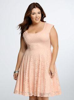 58b32a052c9 Lace Open Back Skater Dress. Plus Size DressesPlus Size OutfitsCurvy FashionDiva  FashionSkater DressDress SkirtPretty ...