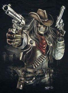 I know I'm an ''wariat'' and I own that shit like a BOSS. Ghost Rider Wallpaper, Skull Wallpaper, Dark Fantasy Art, Dark Art, Dragon Tattoo With Skull, Los Muertos Tattoo, Grim Reaper Art, Western Saloon, Arte Alien