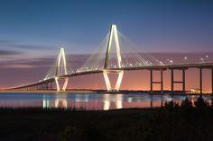 night time Ravenel Bridge | Ravenel Bridge – Charleston, South Carolina