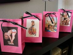 @Julia Hornsby I love these for a Bridal or Bachelorette party..naughty favor bags!