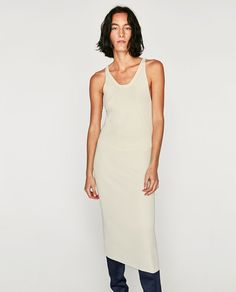 Image 2 of RIBBED DRESS WITH THIN STRAPS from Zara
