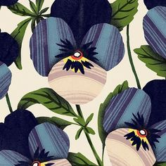 cmhstudio - Did you know that in addition to birth stones there are birth flowers? Here is a pansy pattern for you February babies . (Who else is ready for some Spring blooms??) #surfacespatterns #surfacedesign #floral #print #pattern #art