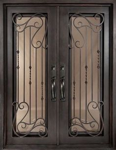 Iron Doors Unlimited, Bel Sol Full Lite Painted Oil Rubbed Bronze  Decorative Wrought Iron Entry Door, At The Home Depot   Mobile