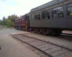 The excursion train at the Northwest Railway Museum.