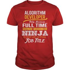Awesome Tee For Algorithm Developer T-Shirts, Hoodies. VIEW DETAIL ==► https://www.sunfrog.com/LifeStyle/Awesome-Tee-For-Algorithm-Developer-119624591-Red-Guys.html?id=41382
