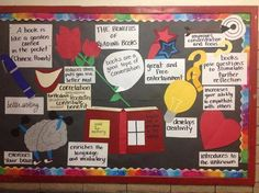 *bulletin board about the Benefits of Reading for our middle school students. Reading Bulletin Boards, Classroom Bulletin Boards, School Classroom, School Fun, Classroom Ideas, Future Classroom, School Stuff, School Ideas, High School