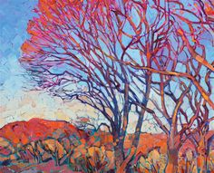 Radiant Orange - Contemporary Impressionism | Landscape Oil Paintings for Sale by Erin Hanson $10,800