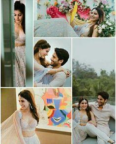 Indian Engagement Photos, Engagement Photo Poses, Samantha Wedding, Samantha Ruth, Couple Shots, Wedding Photoshoot, Heroines, Relationship Goals, Cute Couples