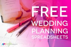 Spreadsheet queens rejoice - here is everything you need to stay on track planning your wedding.