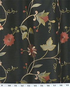 Paradise Garden Black | Online Discount Drapery Fabrics and Upholstery Fabric Superstore!