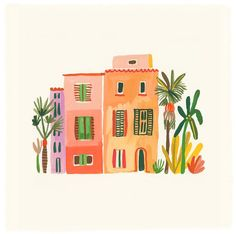 Discover recipes, home ideas, style inspiration and other ideas to try. Art And Illustration, Watercolor Illustration, Animal Illustrations, Illustrations Posters, Gouache Painting, Painting & Drawing, Watercolor Paintings, Watercolour, Pink Drawing
