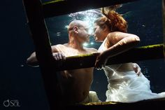 Riviera Maya underwater cenote trash the dress shoot with some lovely newlyweds. Underwater Photos, Kinds Of People, Riviera Maya, Newlyweds, Got Married, Bridal Gowns, Photographers, Brides, Destination Wedding