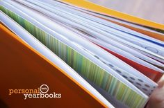 "Great idea for creating annual school ""scrapbooks"""