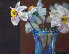 """Another Rhapsody in Blue   10x8""""   Soft pastels on paper. ©Jude Tolar"""