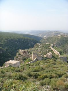View from the Citadel of Sala Ed-Din (Saladin Castle) in Syria