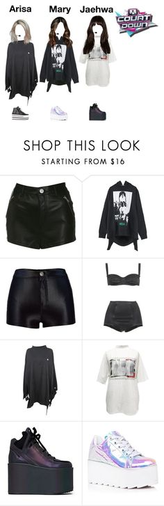 """""""《 GOODBYE STAGE 》 M!Countdown : Touch (+2nd Win)"""" by cherryblossoms-official ❤ liked on Polyvore featuring Miss Selfridge, Hood by Air, Dolce&Gabbana, Vetements, M.Y.O.B. and Y.R.U."""