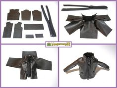 How I make Blythe doll leather jacket | Doll clothes and pho… | Flickr