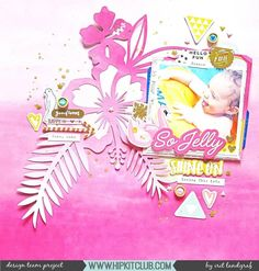 Pinkalicious??!! You bet!! Designer @aurora_landgraf created this stunning pink layout using our cut files together with the #june2017 #hipkits! @hipkitclub #hkcexclusives #exclusives #hipkitclub #hipkit #hipkitexclusives #pink #cutfiles #silhouettecameo #tropical #layers #papercrafting #kitclub #scrapbookkits #clusters #dimension #summer #mainkit #scrapbookingkitclub #scrapbooking #layout #scrapbooklayout