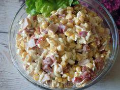 Sałatka z szynką, serem i papryką Kiwi, Pasta Salad, Ethnic Recipes, Kitchen, Food, Crab Pasta Salad, Cooking, Kitchens, Essen