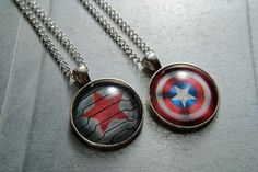 Captain America or Winter Soldier Necklace  Steve by TheBeeeHive