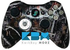 Zombie Hunter Xbox 360 Controller - KwikBoy Modz  #zombie #zombies #zombiehunter #hunter #camoufllage #camo #hunting #bullets #customcontroller #moddedcontroller