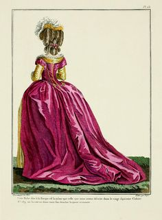 1780 French Fashion Plate - Style: Robe a la Turque