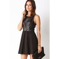 Love 21 Modernist Fit & Flare Dress ($17) ❤ liked on Polyvore