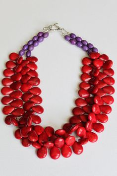 The Deruta  preppy classic bright red howlite by ZolieDesigns, $85.00