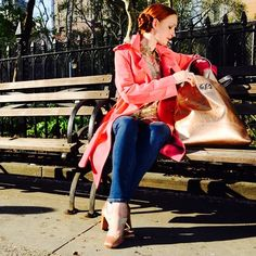 Lunch break in the park with Prima Ballerina Gilian Murphy in head-to-toe Escada Sport. #ESCADAXABT