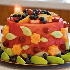 Fruit cake - I learned that I am not a very talented fruit sculptor.  Probably won't try this one again.