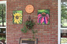 Patio Art - They are sealed for protection.
