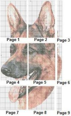 German Shepherd Cross Stitch | eBay