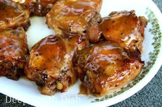 Slow Cooker Brown Sugar Chicken - via Deep South Dish