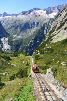 The adventurous traveler is sure to enjoy riding the Gelmerbahn funicular up some of Switzerland's most beautiful mountains.  Even better though is what awaits you on top.  #taterstravels #Switzerland