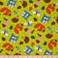 Moda Happy Sunshine Happy Critters Sprout Fabric By The Yard Blue Orange, Orange Shades, Happy Sunshine, Fabulous Fabrics, Sprouts, Accent Decor, Fabric Design, Arts And Crafts, Kids Rugs