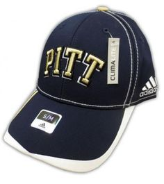 Pitt Panthers Adidas Climalite Structured Flex Hat Size S M  e0cc38bc0