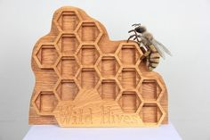 Picture of CNC Machining Project: Wild Hives Honey Display