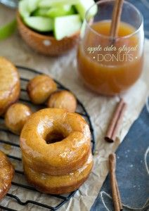 Apple Cider Glazed Donuts – Baked & Fried Versions | Chelsea's Messy Apron