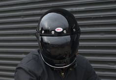 Bell Bullit - Gloss black with black smoke bubble shield