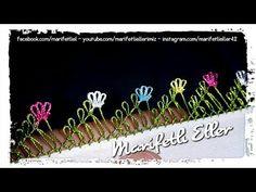 İç İçe Pırpır Çiçek Modelinin İğne Oyasıyla Yazmaya Eklenişi - YouTube