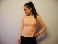 Peach Pink Sweater Knitted Wool Mohair Pullover Elegant and Romantic Petal Pink Soft Spring trends Medium